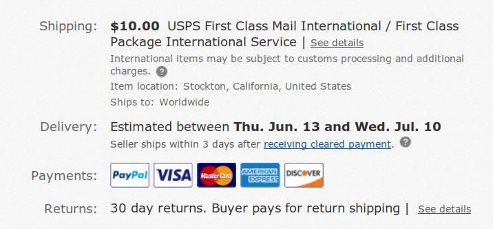 ebay 배송정보