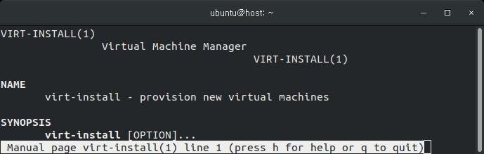 virt-install 사용법