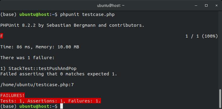 PHPUnit 사용법 예제