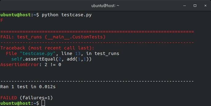 Python unittest 사용법